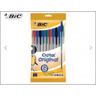 BIC Cristal Original 10 Pack (Mixed Colours).