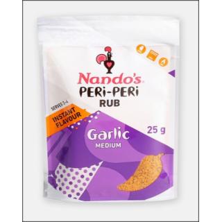 Nando's Peri-Peri Rub. Garlic Medium. Serves 3 - 4. 25g.