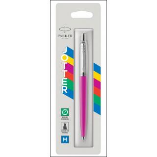 Parker Jotter Ballpoint Pen. Blue Ink. Refillable. Magenta Barrel/Casing.