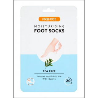 ProFoot Moisturising Foot Socks Sachet. Tea Tree. 1 Pair.