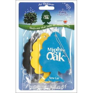 Mighty Oak Car Air Freshener 3 Pack. New Car, Vanilla & Ice Cool.