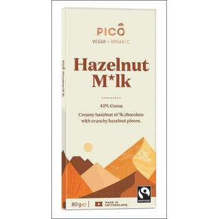 Pico Vegan + Organic Chocolate. Hazelnut M*lk. 80g.