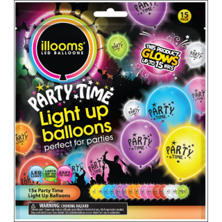 Illooms LED Balloons. Party Time Selection. 15 Balloons.