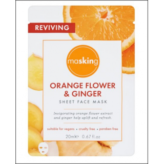 Masking Orange Flower & Ginger Sheet Face Mask. 1 Sachet.
