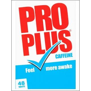 Pro Plus Caffeine. Temporary Tiredness Relief. 48 Tablets.