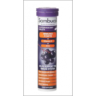 Sambucol Immuno Forte Supplement. Supports Immune System. Black Elderberry. 15 Tablets.