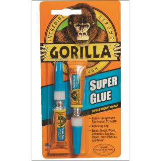 Gorilla Super Glue. Impact Tough Formula. 2 Tubes Of 3g.
