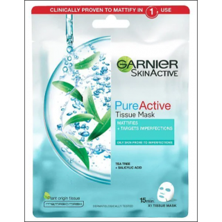 Garnier SkinActive Mask. Tea Tree. 1 Sachet.