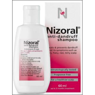 Nizoral Anti-Dandruff Shampoo. Dermatologically Tested. 60ml.