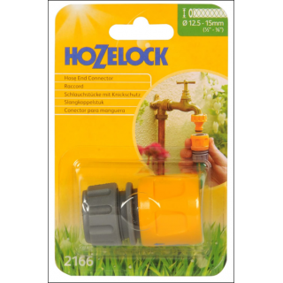 Hozelock Hose End Connector. 12.5 - 15mm Size.