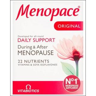 Vitabiotics Menopace Original. Menopause Support Supplement. 30 Tablets.