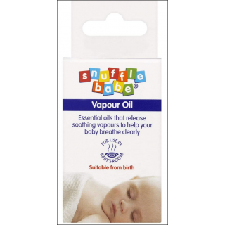 Snuffle Babe Vapour Oil. Releases Soothing Vapours. Up To 100 Uses.